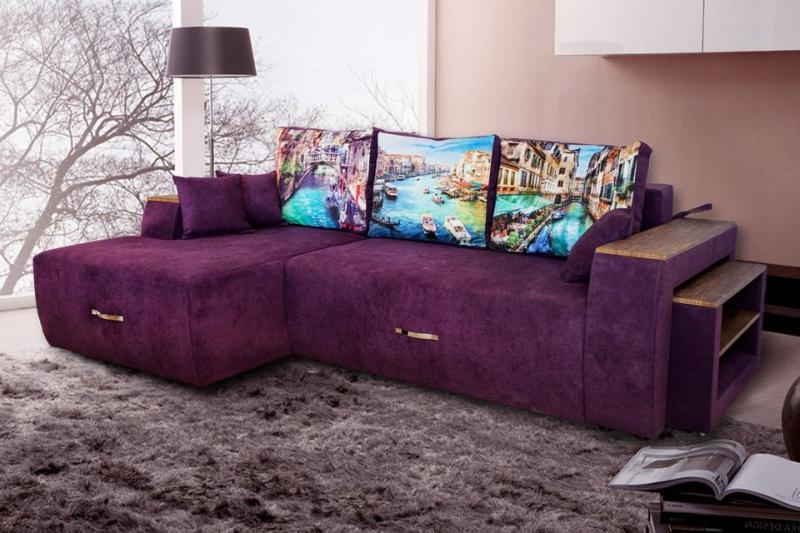Угловой диван - кровать Манго
